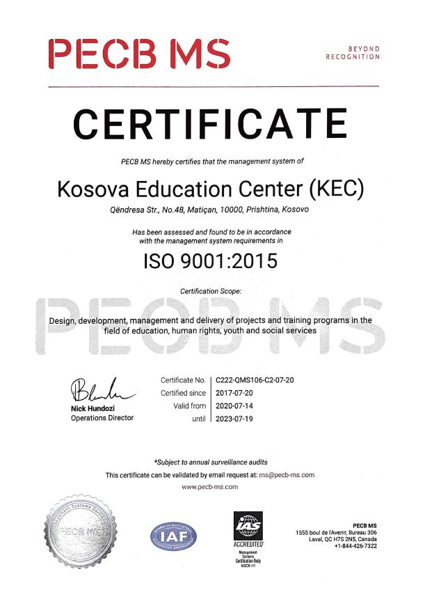 Certifikata